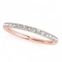 Diamond Wedding Ring Band 14k Rose Gold (0.23ct)