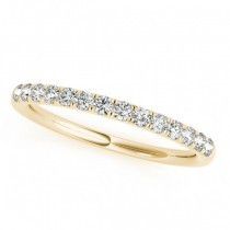 Diamond Wedding Ring Band 18k Yellow Gold (0.23ct)