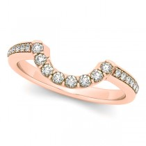 Diamond Contoured Wedding Band 18k Rose Gold (0.23ct)