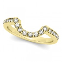 Diamond Contoured Wedding Band 18k Yellow Gold (0.23ct)