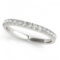 Diamond Prong Set Wedding Band 14k White Gold (0.23ct)
