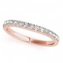 Diamond Prong Set Wedding Band 18k Rose Gold (0.23ct)
