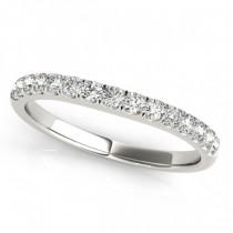 Diamond Prong Set Wedding Band 18k White Gold (0.23ct)