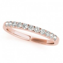 Diamond Prong Wedding Band 14k Rose Gold (0.30ct)