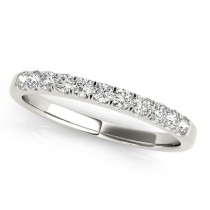 Diamond Prong Wedding Band 18k White Gold (0.30ct)
