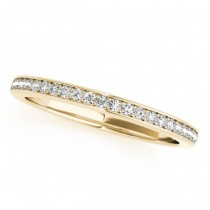 Pave Diamond Accented Wedding Band 14k Yellow Gold (0.20ct)