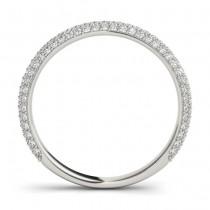 Diamond Accented Wedding Band 14k White Gold (0.50ct)|escape