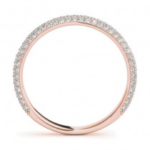 Diamond Accented Wedding Band 18k Rose Gold (0.50ct)|escape