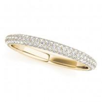 Diamond Accented Wedding Band 18k Yellow Gold (0.50ct)