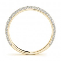 Diamond Accented Wedding Band 18k Yellow Gold (0.50ct)