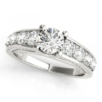 Trellis Diamond Engagement Ring w/ Side Accents Palladium (2.83ct)