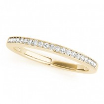 Diamond Accented Wedding Band in 14k Yellow Gold (0.17ct)