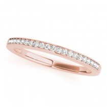 Diamond Accented Wedding Band in 18k Rose Gold (0.17ct)