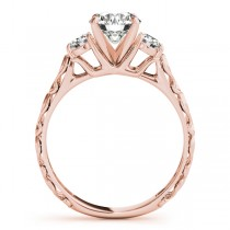 Vintage Heirloom Three Stone Engagement Ring 18k Rose Gold (2.25ct)