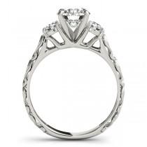 Vintage Heirloom Engagement Ring Bridal Set Palladium (2.35ct)