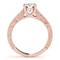 Vintage Round Cut Diamond Engagement Ring 18k Rose Gold (2.25ct)