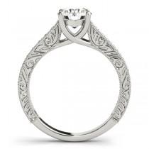 Vintage Round Cut Diamond Engagement Ring 18k White Gold (2.25ct)