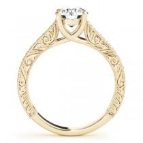 Vintage Round Cut Diamond Engagement Ring 18k Yellow Gold (2.25ct)