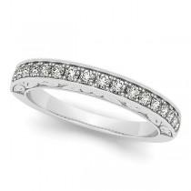 Diamond Halo Bridal Set w/ Flower Ring & Band 14k White Gold (1.33ct)