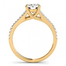 Lucidia Split Shank Multirow Engagement Ring 14k Yellow Gold (1.18ct)