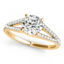 Lucidia Split Shank Multirow Engagement Ring 18k Yellow Gold (1.18ct)