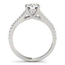 Lucidia Split Shank Multirow Engagement Ring Palladium (1.18ct)