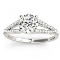Lucidia Split Shank Multirow Engagement Ring 14k White Gold (0.18ct)