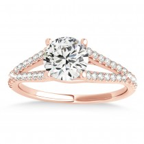 Lucidia Split Shank Multirow Engagement Ring 18k Rose Gold (0.18ct)