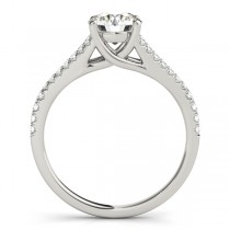 Lucidia Split Shank Multirow Engagement Ring Platinum (0.18ct)