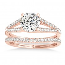 Lucidia Split Shank Multirow Bridal Set 18k Rose Gold (0.28ct)