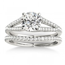 Lucidia Split Shank Multirow Bridal Set Platinum (0.28ct)