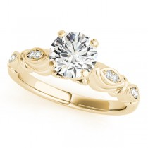 Vintage Round Solitaire Engagement Ring 18k Yellow Gold (2.05ct)