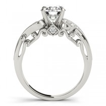 Vintage Swirl Diamond Engagement Ring Bridal Set Palladium (2.25ct)