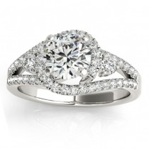 Diamond Split Shank Engagement Ring Twisted in Palladium (0.75ct)