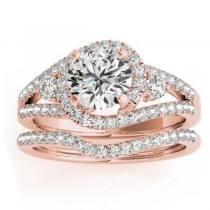 Diamond Engagement Ring Setting & Wedding Band 14k Rose Gold (1.00ct)
