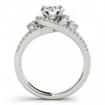 Diamond Split Shank Engagement Ring Setting & Band in Palladium 1.00ct
