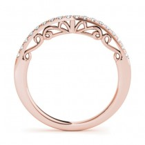 Diamond Accented Wedding Band 18k Rose Gold (0.28ct)|escape