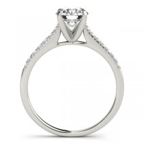 Diamond Single Row Engagement Ring 14k White Gold (0.11ct)