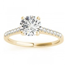 Diamond Single Row Engagement Ring 14k Yellow Gold (0.11ct)