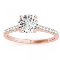 Diamond Single Row Engagement Ring 18k Rose Gold (0.11ct)