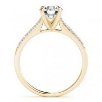 Diamond Single Row Engagement Ring 18k Yellow Gold (0.11ct)