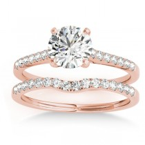 Diamond Single Row Bridal Set 14k Rose Gold (0.22ct)