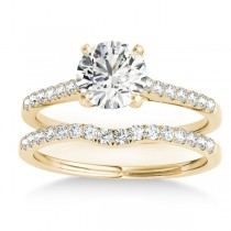 Diamond Single Row Bridal Set 14k Yellow Gold (0.22ct)