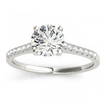 Diamond Single Row Bridal Set Palladium (0.22ct)