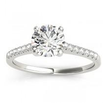 Diamond Single Row Bridal Set Platinum (0.22ct)