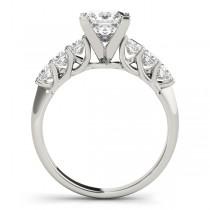 Diamond Princess cut Bridal Set Ring 14k White Gold (1.30ct)