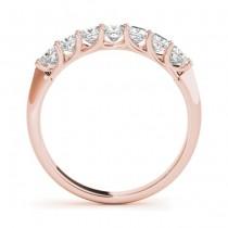 Diamond Princess-cut Wedding Band Ring 14k Rose Gold 0.70ct