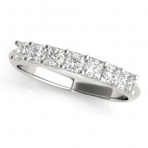 Diamond Princess-cut Wedding Band Ring 14k White Gold 0.70ct