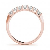 Diamond Princess-cut Wedding Band Ring 18k Rose Gold 0.70ct