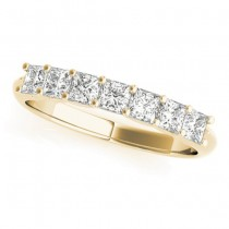 Diamond Princess-cut Wedding Band Ring 18k Yellow Gold 0.70ct